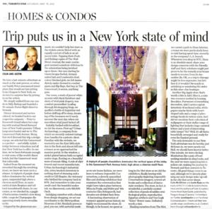New York State Of Mind TORONTO STAR
