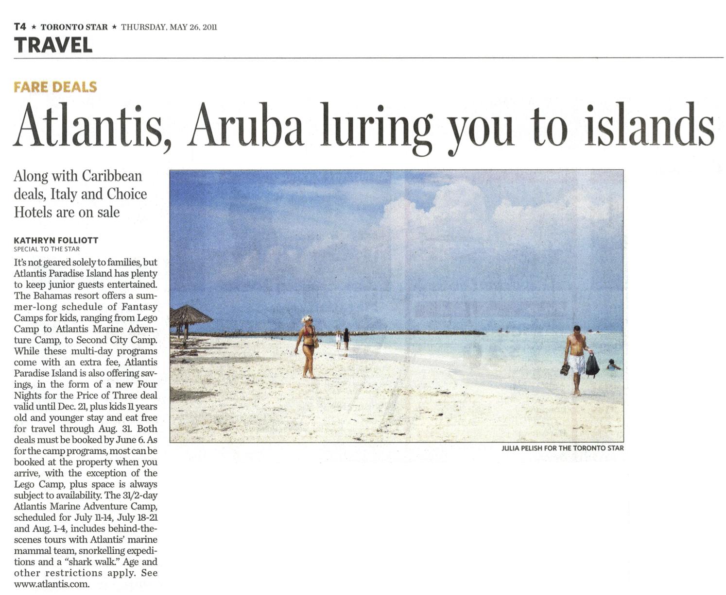 Atlantis Luring You To Islands TORONTO STAR
