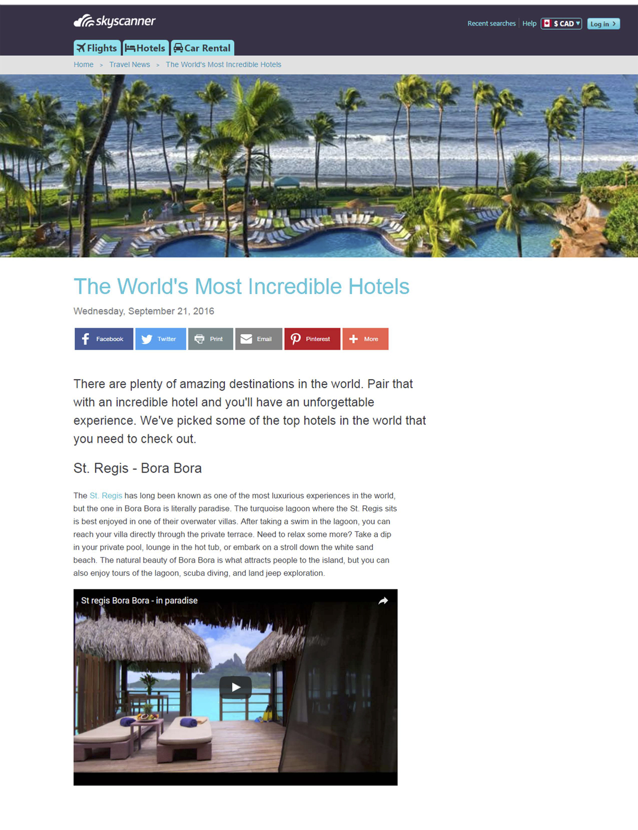 The World's Most Incredible Hotels SKYSCANNER