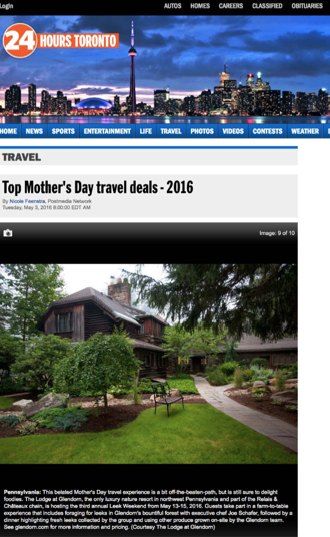 Top Mother's Day travel deals 24 HOURS TORONTO