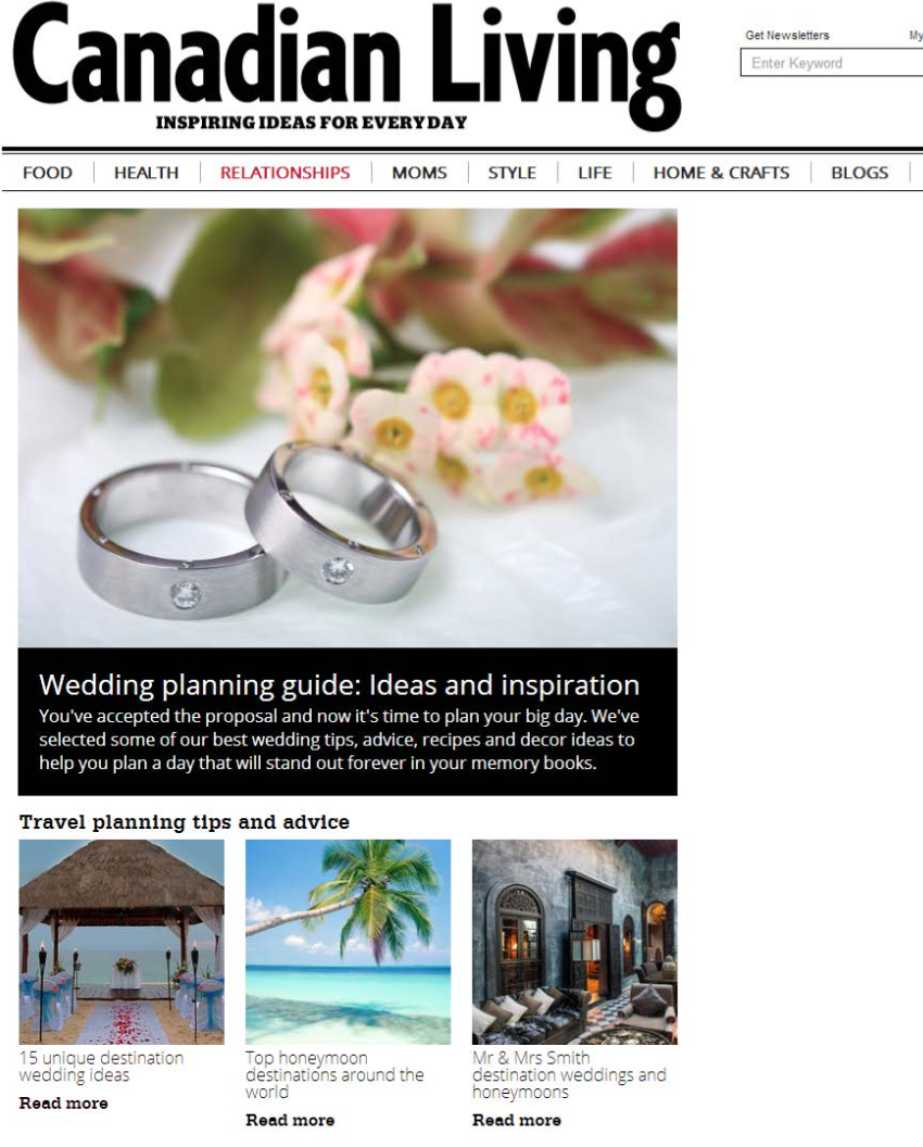 Mr & Mrs Smith destination weddings and honeymoons CANADIAN LIVING