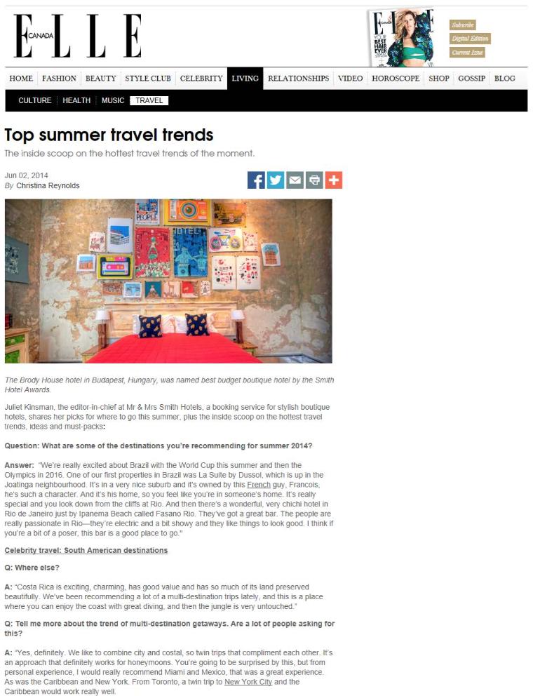 Top summer trends ELLE CANADA