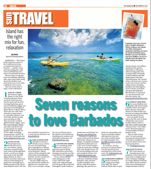 Seven reasons to visit Barbados<br>Toronto Sun
