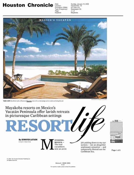 Resort Life HOUSTON CHRONICLE