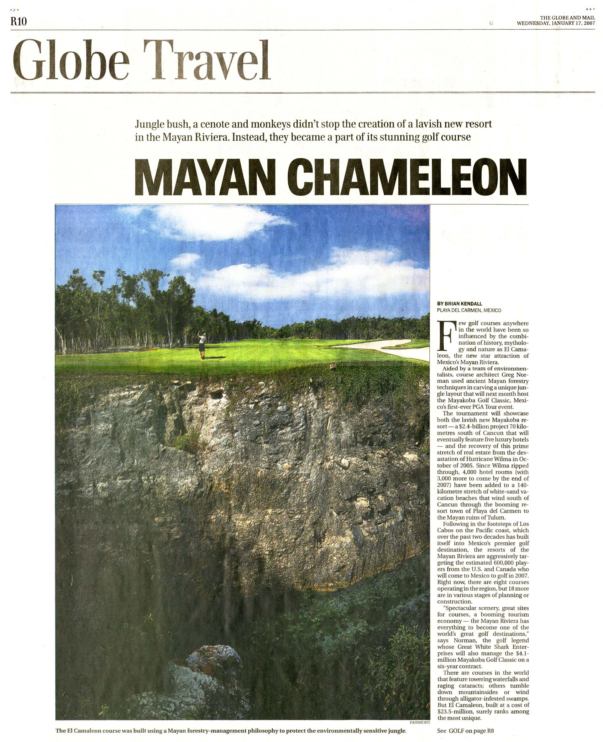 Mayan Chameleon THE GLOBE AND MAIL