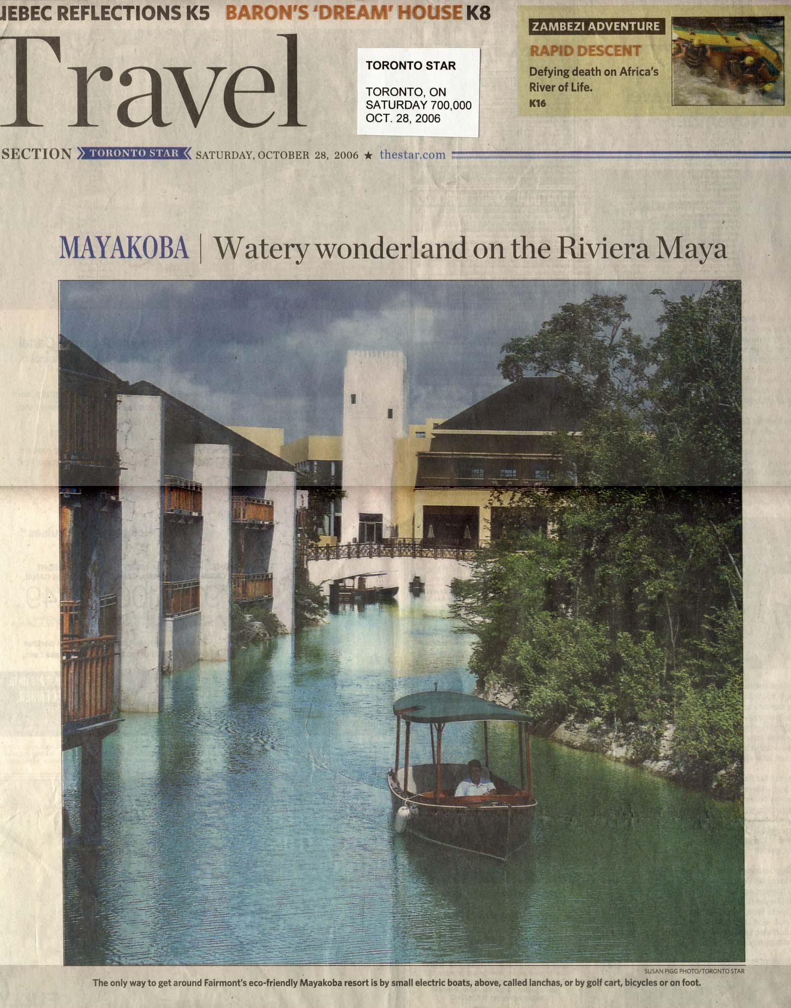Mayakoba: Water wonderland on the Riviera Maya TORONTO STAR