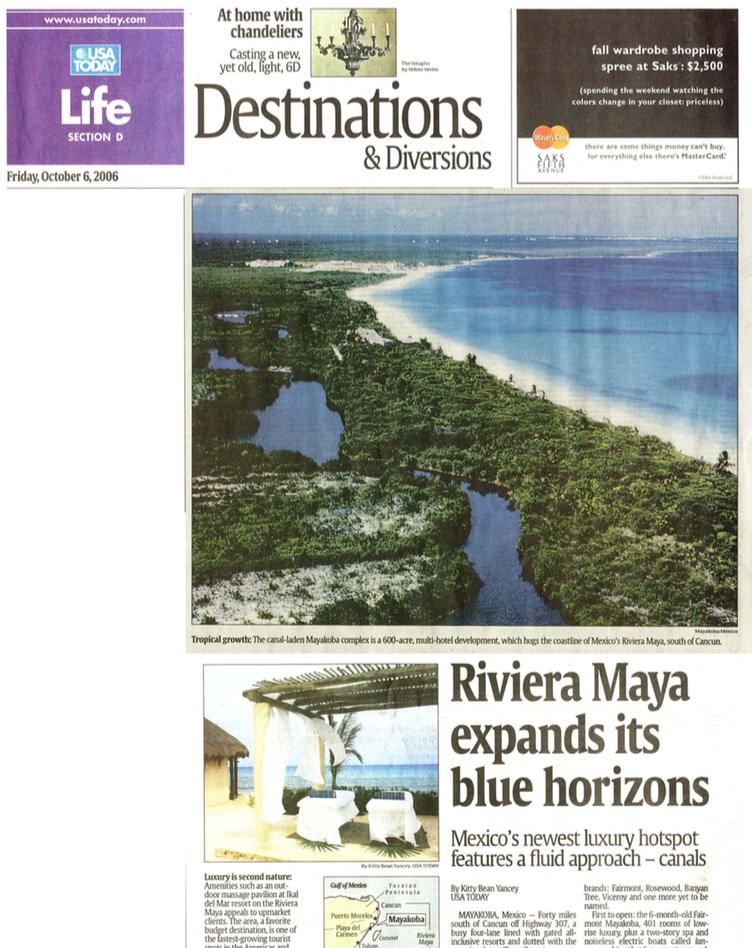 Riviera Maya expands its blue horizons USA TODAY