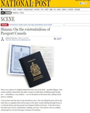 On the existentialism of Passport Canada<br>NATIONAL POST