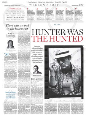 Hunter Was The Hunted<br>NATIONAL POST