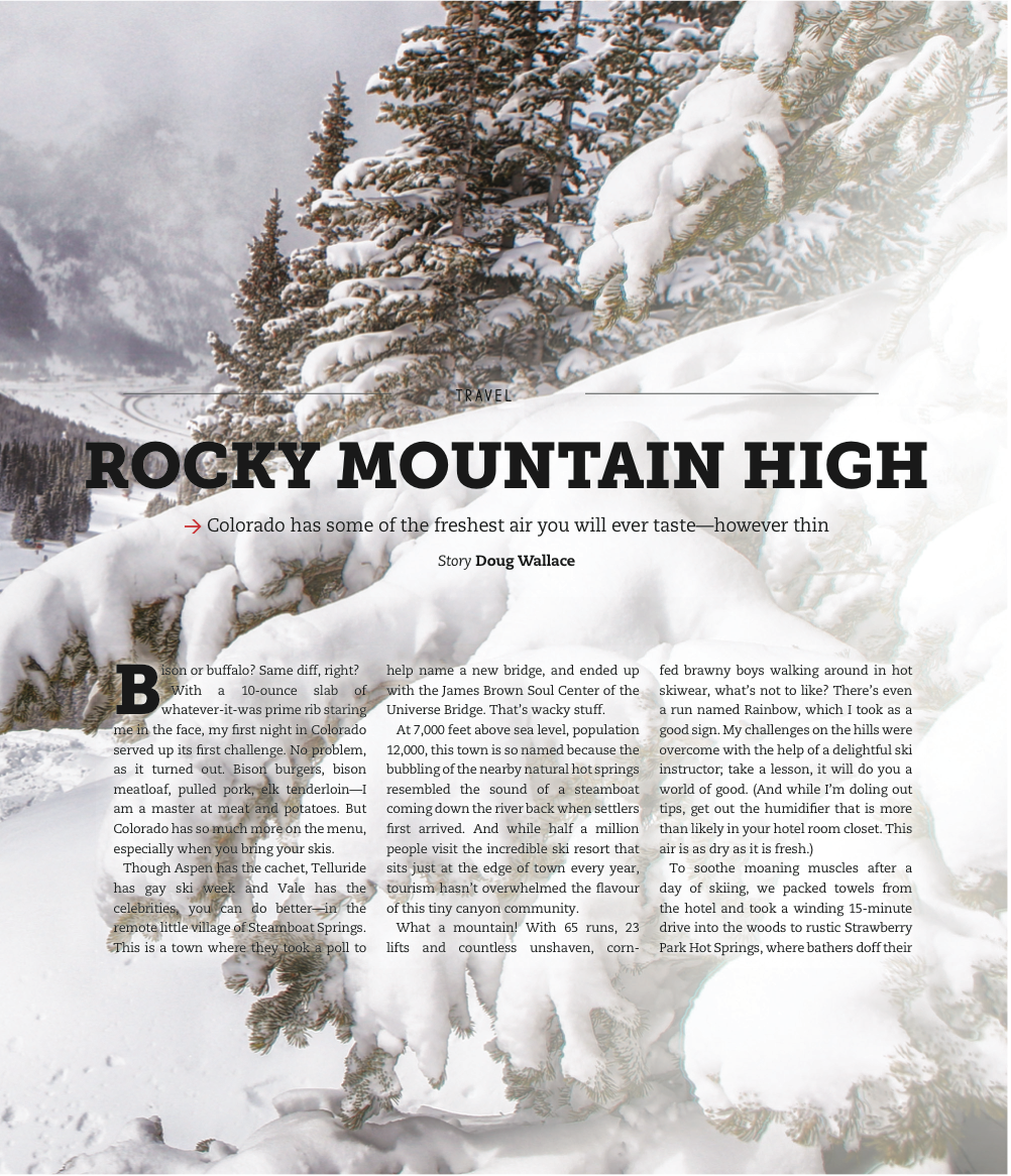 Rocky Mountain High<br>IN MAGAZINE