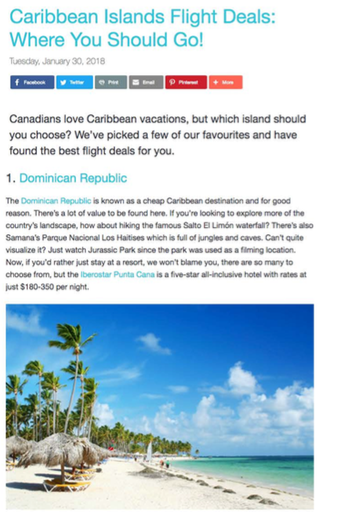 Caribbean Islands Flight Deals<br>SKY SCANNER