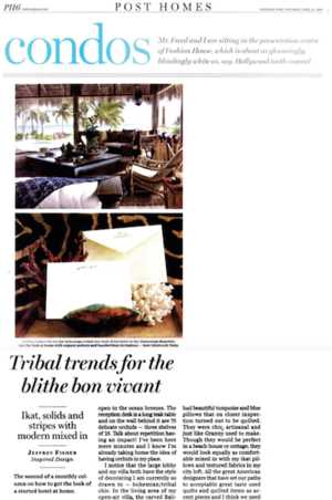 Tribal Trends for the Blithe Bon Vivant<br>NATIONAL POST