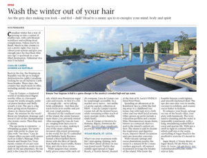 Wash the winter out of your hair<br>THE GLOBE AND MAIL