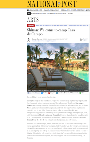 Welcome to camp Casa de Campo<br>NATIONAL POST