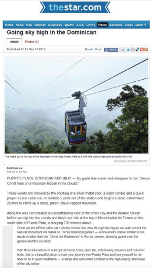 Going Sky High in the Dominican<BR>TORONTO STAR