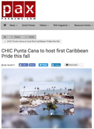 CHIC Punta Canada to host first Caribbean Pride<br>PAXNEWS.COM