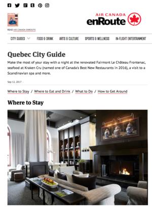 Quebec City Guide<br>AIR CANADA ENROUTE