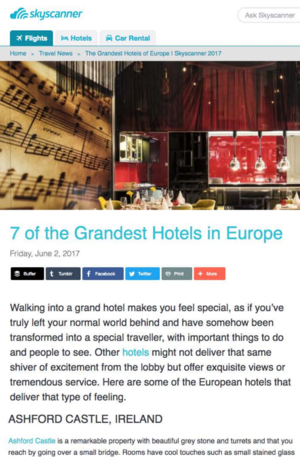 7 of the Grandest Hotels in Europe<br>SKY SCANNER