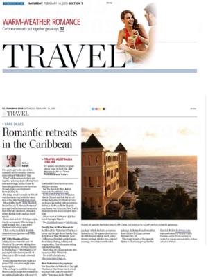 Romantic retreats in the Caribbean<br>TORONTO STAR