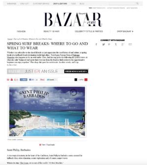 Spring Surf Breaks: Where To Go<BR>HARPER'S BAZAAR