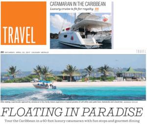 Catamaran in the Caribbean<br>CALGARY HERALD