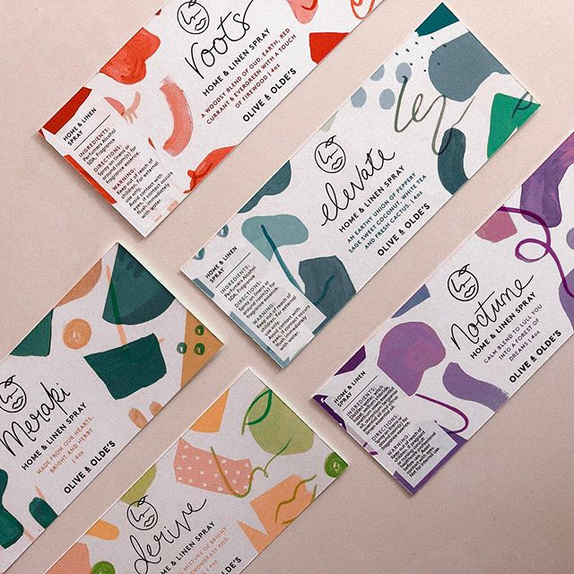 Two new scents in the family for @oliveandoldes 🌸 . Here's a packaging design tip: It's always good to consider future product rollout / NPD when launching your initial sku assortment / range, to make sure that the pack family can grow and flex into new flavours or scents 😉 . It can be tricky to find colours for every flavour, particular colours that are visually similar, or communicate similar flavour blends. We use colour as a semiotic cue (pork is often blue for example!) and it's also commonly used to evoke scent and smell (just like lavender is typically purple) . Not only does colour work hard as a flavour or scent identifier *but* it also helps us with product navigation and differentiation, particularly when the sku set is big (I remember the Homepride days!) ... and this becomes even more important when we're selling on shelf. We get seconds to communicate flavour or scent to our customers in a retail setting. We don't have the luxury of casual browsing and extra messaging like we do online. . Colour is one of the biggest components in all of my work, mainly because I bloody love vibrant and beautiful things but also because it's so so integral to packaging design and how it communicates. . Let me know if you have any questions! I'm all about sharing knowledge, it's dying to jump out of my brain 😋