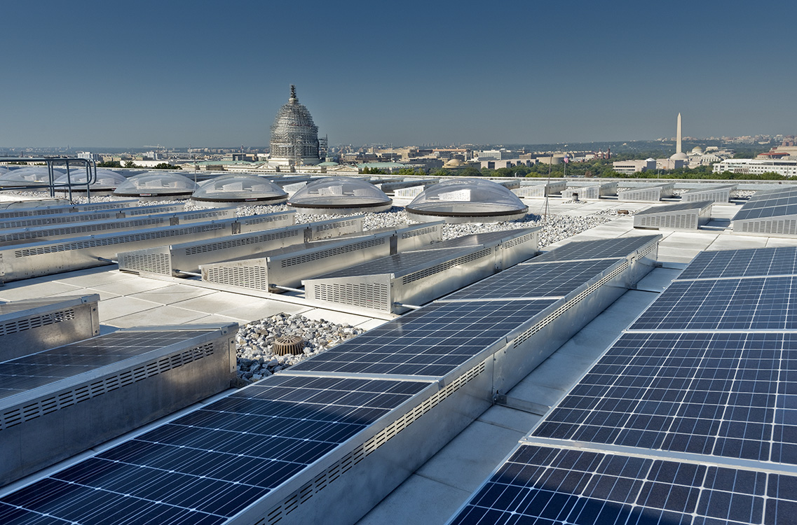 Hart Senate Office Building Rooftop PV Panel Installation