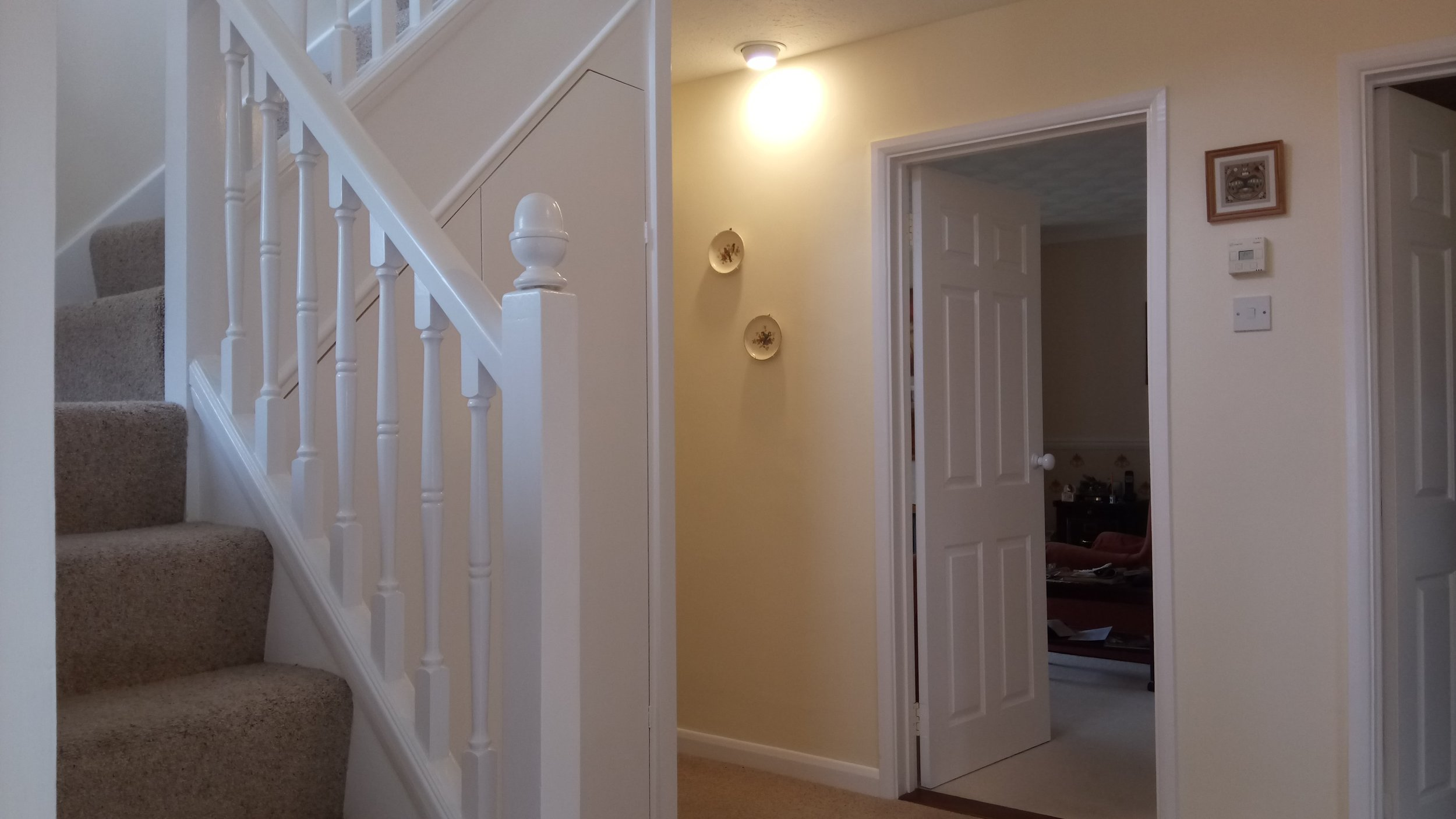Hall, stairs and landing redecorated at this property in Bishopstoke