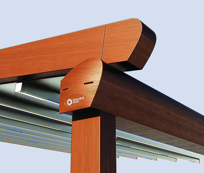 Runner beam, gutter, column connection