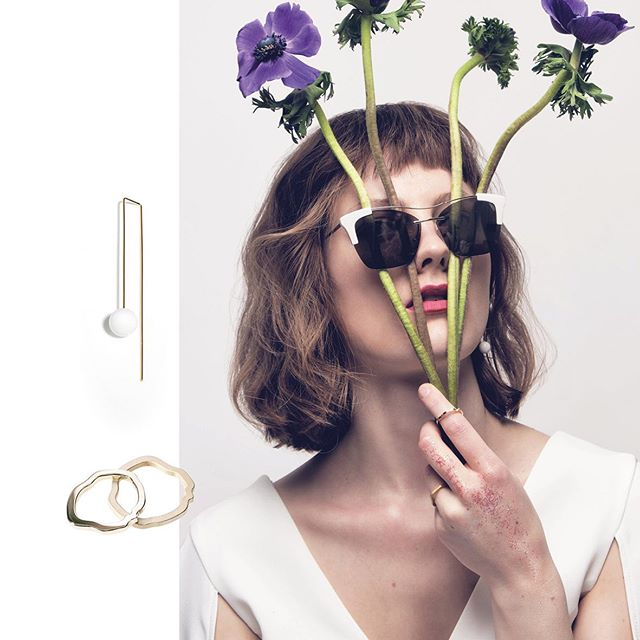 In love with this great shot from @christiane.baumgart ♥️ for @lofficielaustria 💫 with our jewelry 💕  Creative Direction @hypestories  Styling @isabellebarsch  Hair & Makeup @suzana_santalab  Model @paulascheffler  Flower Designer @keck.larissa  Sunglasses @prada  #lofficiel #editorial #beauty #flowers #spring #portrait #jewelry #goldmarlen #sunglasses #prada #inlove #mood
