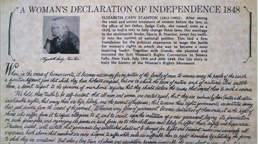 Product:  A Woman's Declaration of Sentiments 1848      Vendor: The National Susan B. Anthony Museum & House