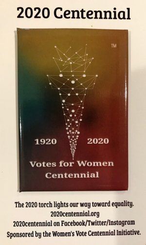 2020 Centennial  Pin  and  Magnet