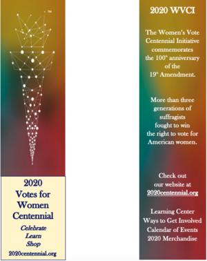 2020 Centennial Bookmark