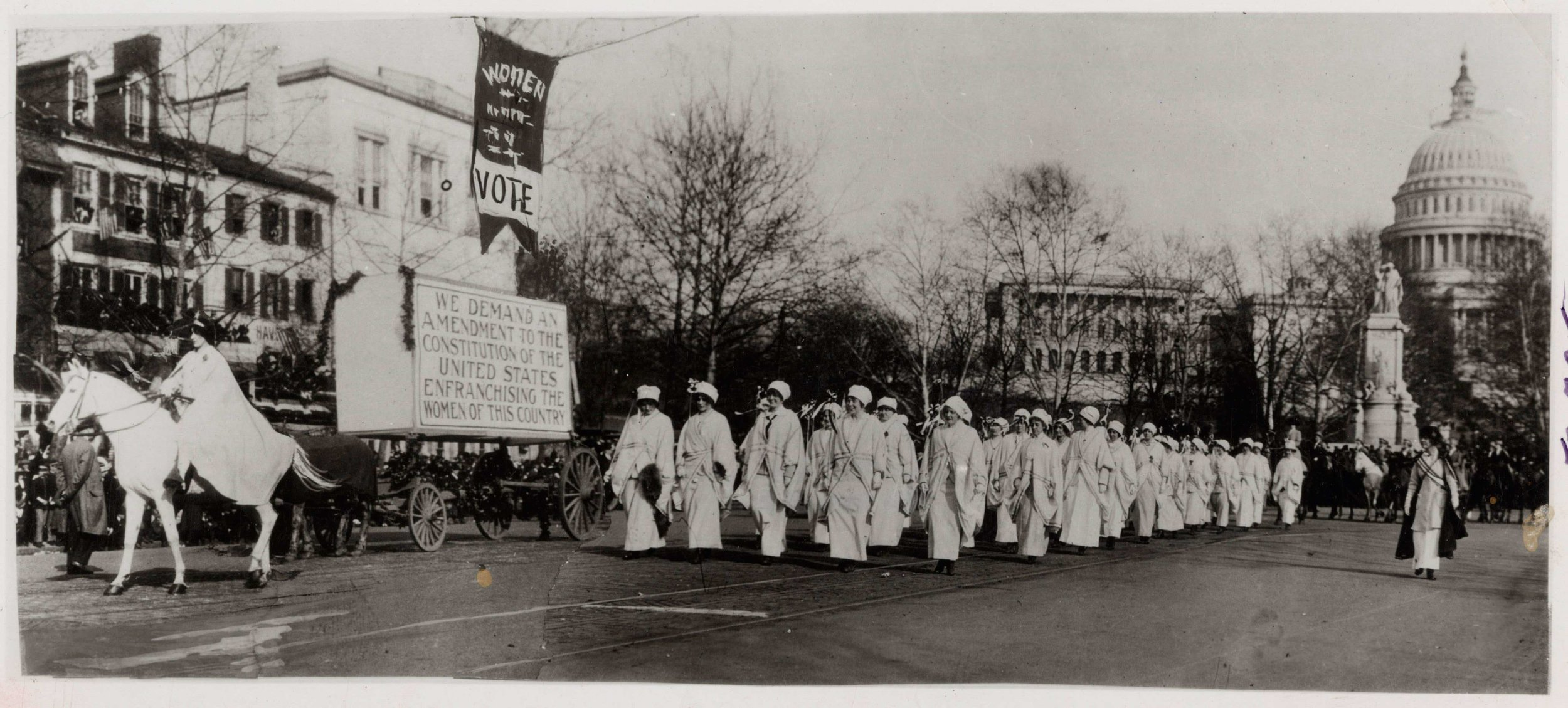 Image: Women Marching in Suffrage Parade in Washington, DC