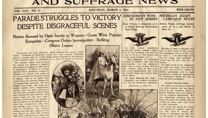 """Image: """"Newspaper Coverage of D.C. Suffrage Parade, March 8, 1913"""""""