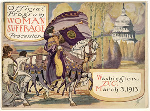"""Image: """"Official Program Cover, 1913 Woman Suffrage Parade"""""""