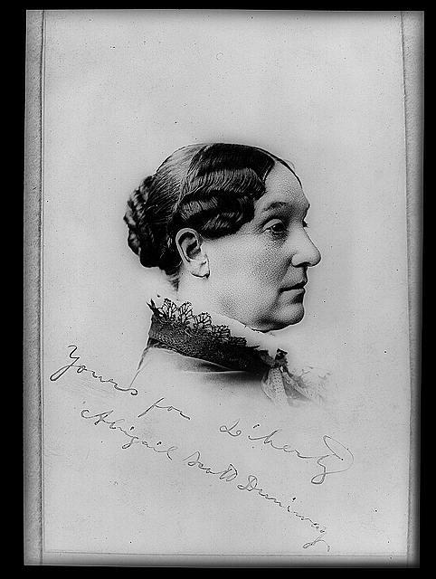 Abigail Scott Duniway, bust portrait, facing right