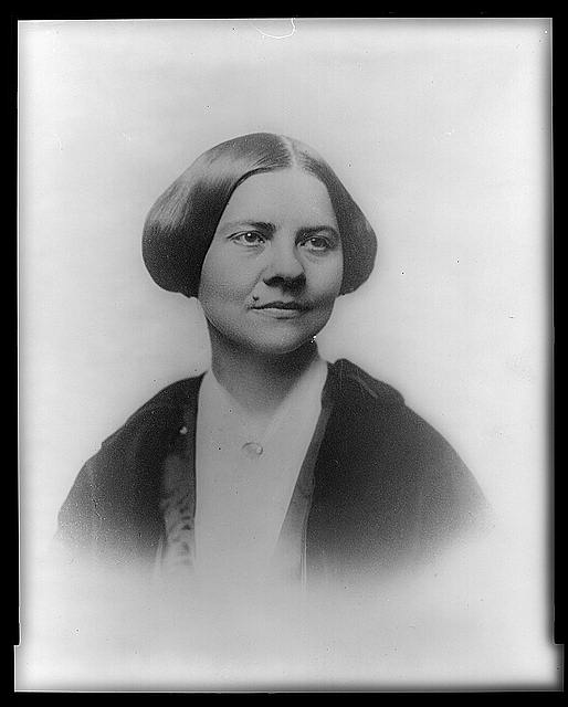 Lucy Stone, head-and-shoulders portrait, facing right