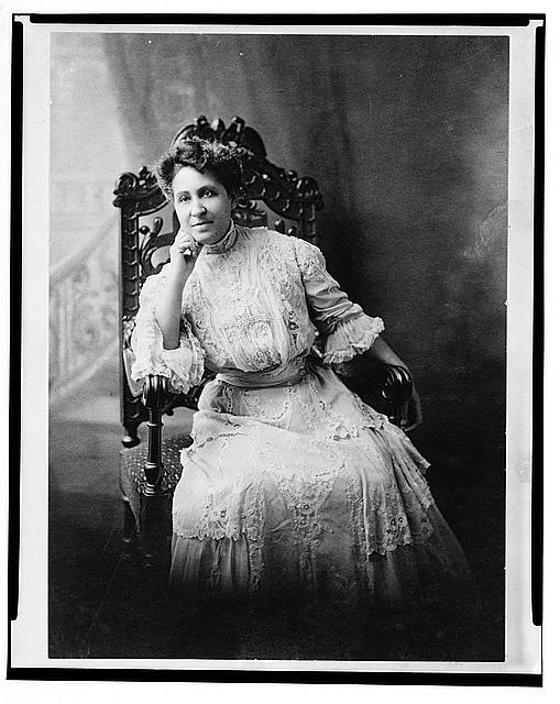 Mary Church Terrell, three-quarter length portrait, seated, facing front