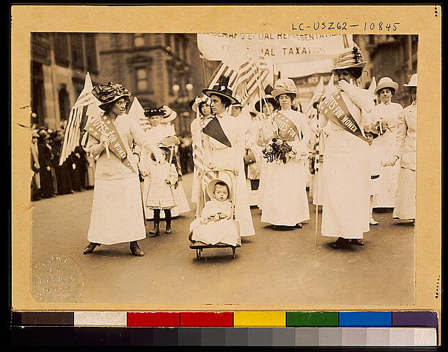 Youngest parader in New York City suffragist parade
