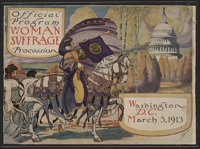 Official program - Woman suffrage procession, Washington, D.C. March 3, 1913