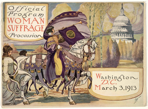 Official Program Cover from 1913 Woman Suffrage Parade