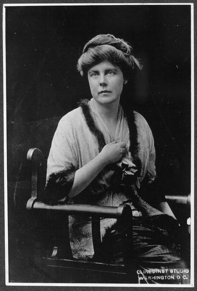 Lucy Burns, Vice Chairman Cong[ressional] Union, 1913