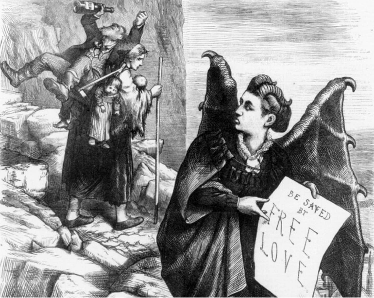 A woman who ran for president in 1872 was compared to Satan and locked up. It wasn't for her emails.