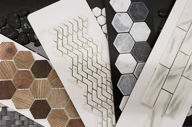 Recycled glass tiles are a practical, green, and rich-to-the-touch option for bathrooms and backsplashes. Sure, they are a better way to use old glass than wasting away in a landfill for thousands of years, but they're also non-absorptive so don't stain and can handle harsh cleaning chemicals, plus they are mold and mildew resistant. They come in many looks, like wood, marble, and stone and are usually matte with some textute but still offer some reflective properties-great for opening up small spaces. They're a little trickier to install than ceramic but nothing a qualified installer couldn't handle + the depth they add to your design story is definitely worth it. . . . . . #bellfloorco #recycledglass #glasstiles #greenmaterials #backsplash #bathroomtiles #tilestyle #interiordesign #greendesign #thinkoutsidethehex #hexagontiles #woodlooktile #marblelook #designinspiration #philly #phillydesign #pebbletile #realestateprofessional #backsplashideas #tiletuesday #tileshop