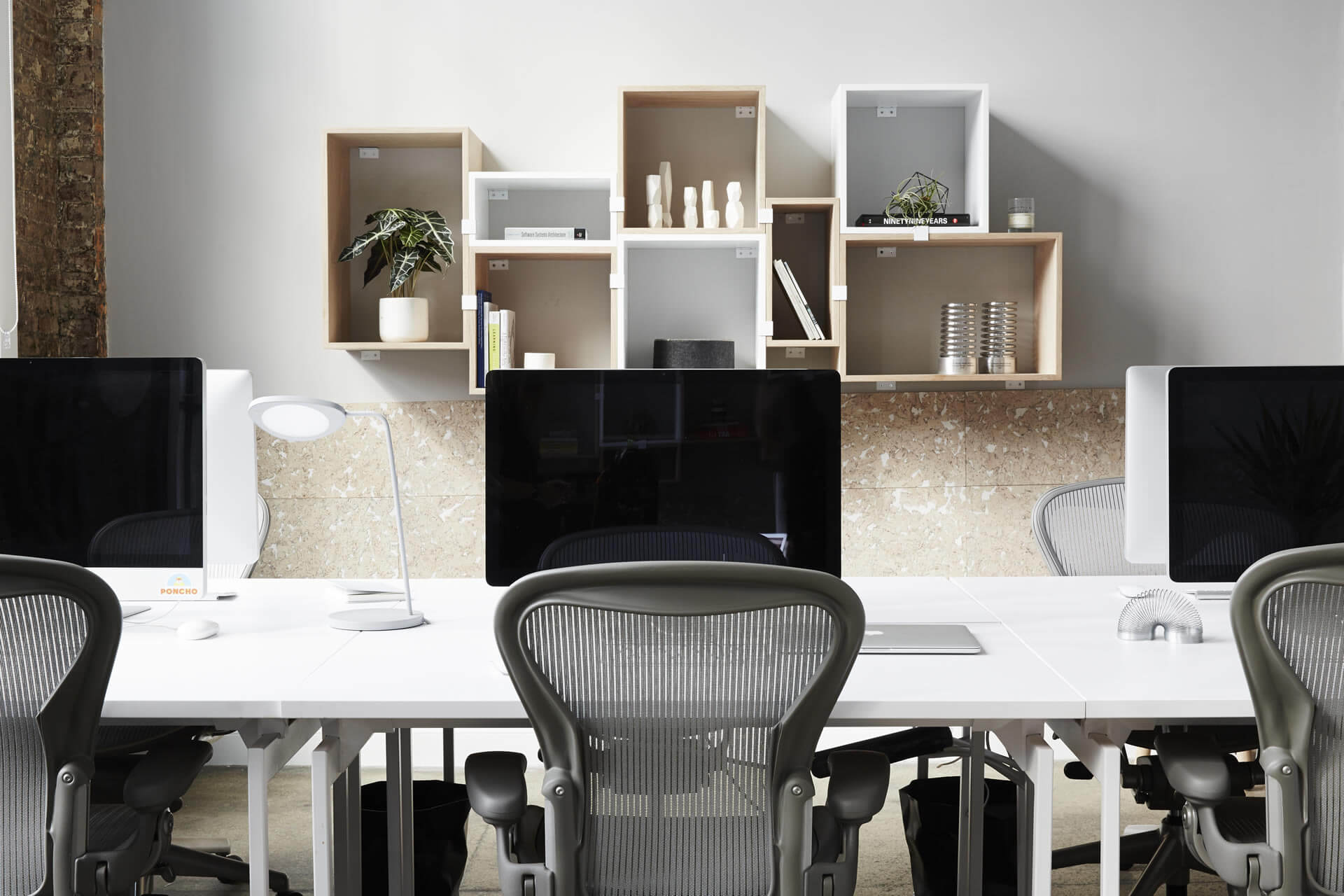 Herman Miller Aeron | Muuto Stacked Shelving