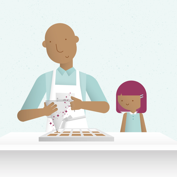 A family story - It all began with a father and his daughter learning how to make caramels. Years later, after personally experiencing the medicinal benefits of cannabis, Albert decided to figure out how to infuse cannabis into his delicious confections. He started with a four-day course at Oaksterdam and a desire to help people improve their quality of life. Together with his wife, Albert teamed up with groups of friends, partners, and mentors to bring their vision to life. There were trials and errors, long nights of research, and of course many recipes—until the right one stuck.