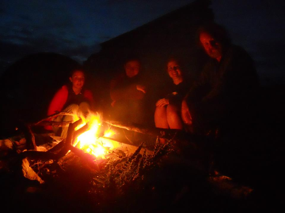 Camp fire on a wild camp, Scottish tours with walks, small group adventures, Roaming Scotland.jpg