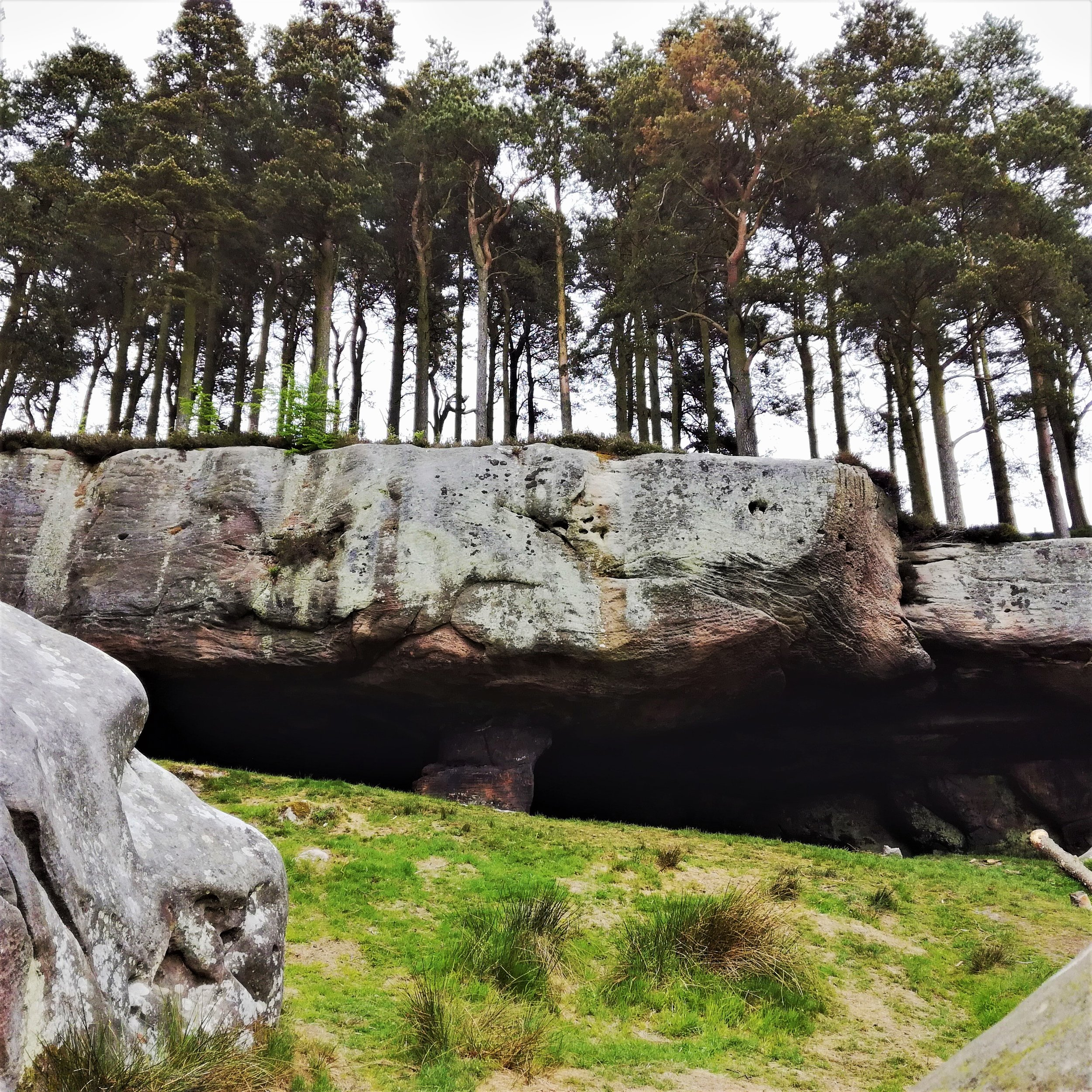 St Cuthbert's cave, Northumbria, Scottish tours with walks, small group adventures, Roaming Scotland.jpg