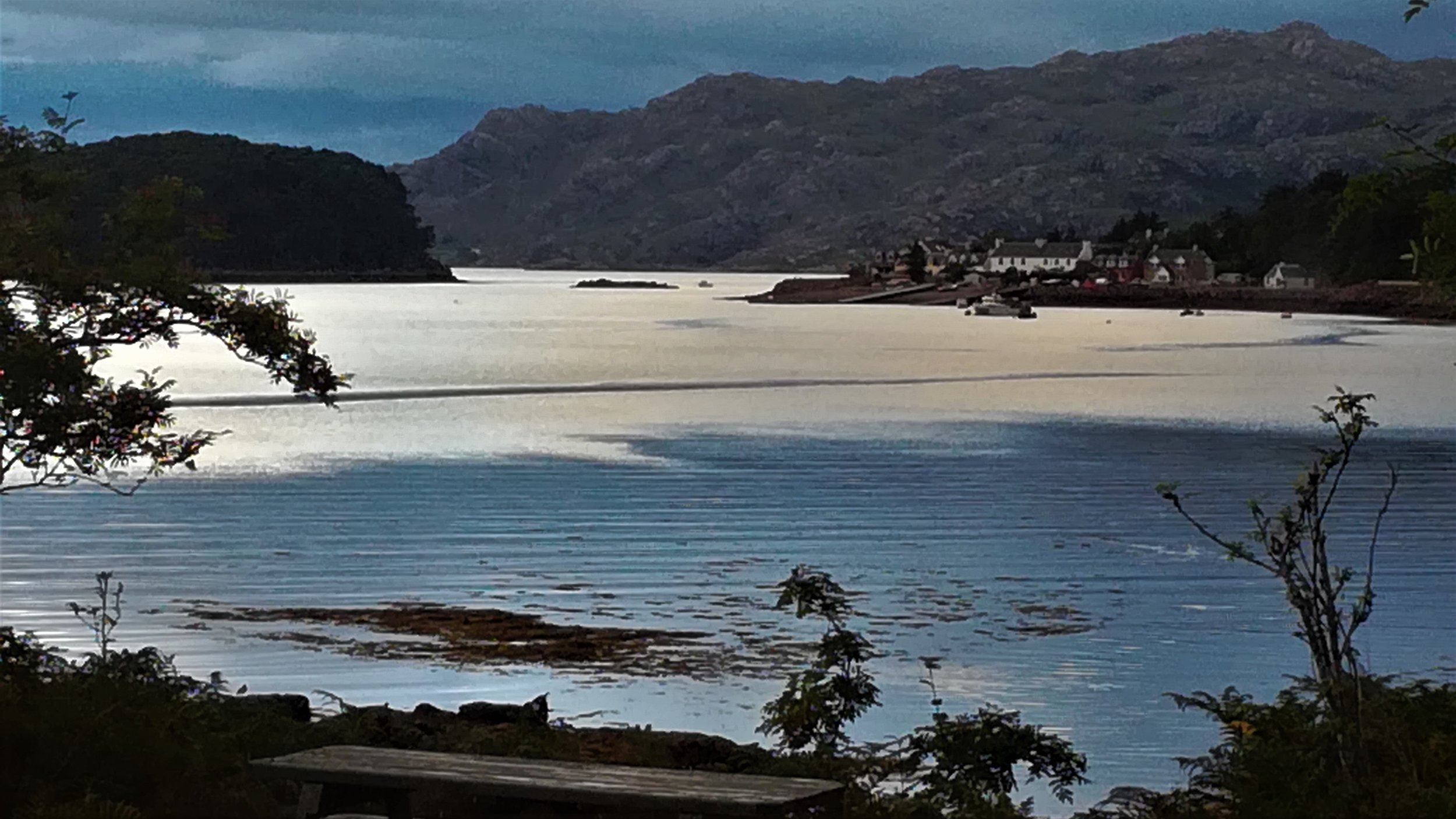 The view from our B&B looking across Loch Torridon to Shieldaig